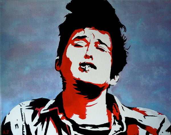 Bob Dylan Print featuring the painting Dylan by Austin James
