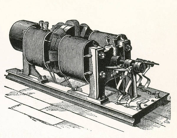 Dynamo Electric Machine Print featuring the photograph Dynamo Electric Machine by Science Source