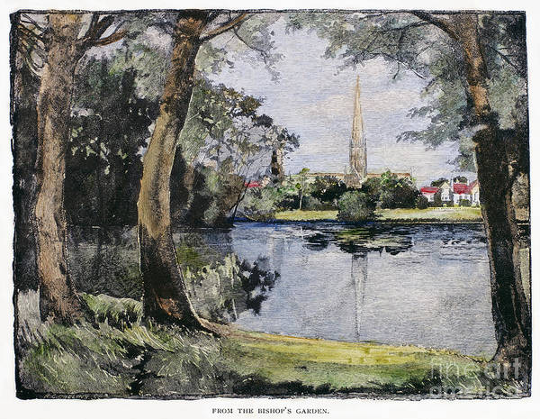 1888 Art Print featuring the photograph England: Salisbury by Granger