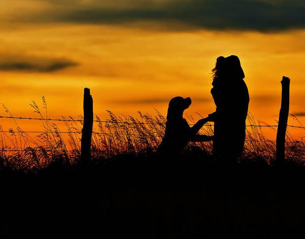 Sunset Art Print featuring the photograph Evening Walk by Edward Kovalsky