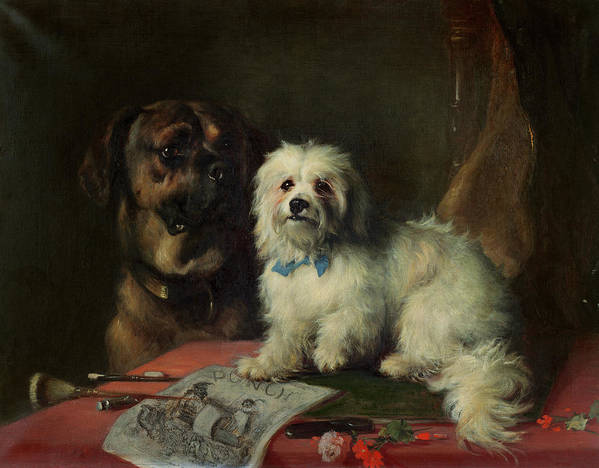 Punch; Dogs Art Print featuring the painting Good Companions by Earl Thomas