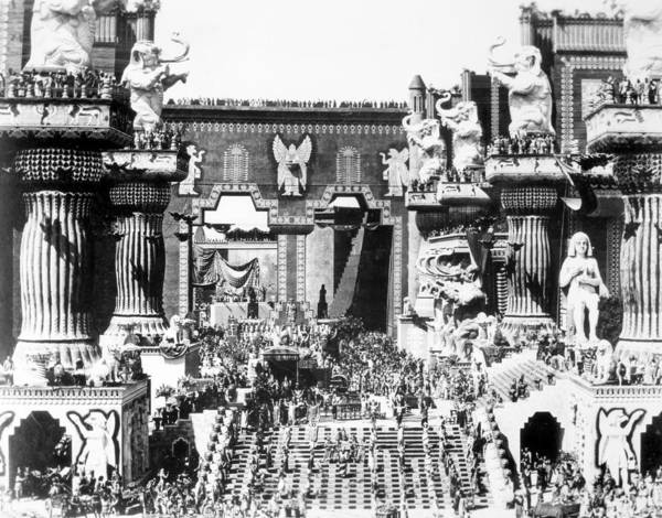 -ecq- Art Print featuring the photograph Griffith: Intolerance 1916 by Granger