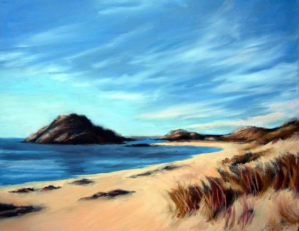 Havik Beach Art Print featuring the painting Havik Beach by Janet King
