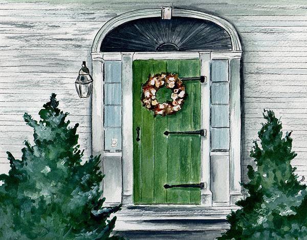 Watercolor Art Print featuring the painting Heads Corner Farm Denmark Maine by Brenda Owen