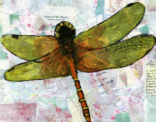 Art Art Print featuring the painting Insect Art - Voice Of The Heart by Miriam Schulman