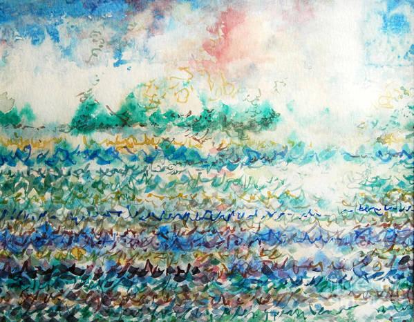 Abstract Art Print featuring the digital art Light And Water by Jennifer Godwin