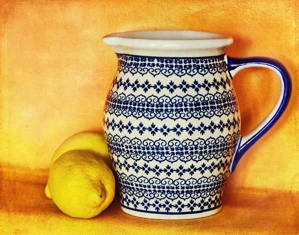Pitcher Art Print featuring the photograph Making Lemonade by Tammy Wetzel