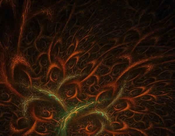 Abstract Digital Art Art Print featuring the photograph Medusa by Lourry Legarde