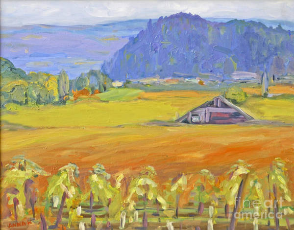 Napa Valley In Fall Art Print featuring the painting Napa Valley Mountains by Barbara Anna Knauf
