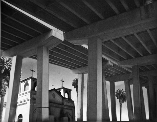 Architecture Art Print featuring the photograph San Diego Freeway by Larry Butterworth
