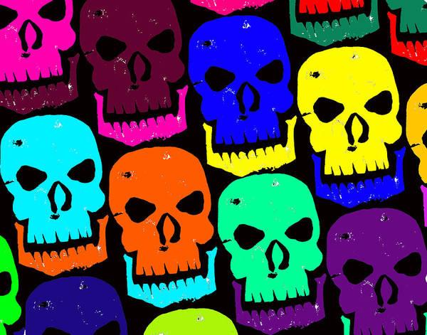 Halloween! Art Print featuring the photograph Skulls by Jame Hayes