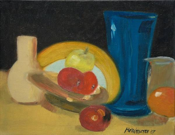 Still Life Art Print featuring the painting Still Life Of Fruit by Bernadette Krupa