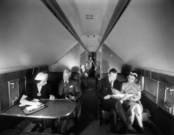Airline Art Print featuring the photograph United Airlines Mainliner Sleeper by Everett