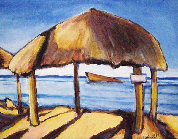 Art Print featuring the painting View From Corn Island Nicaragua by Carlos Morales