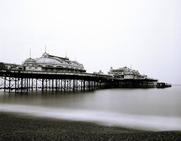 Sea Art Print featuring the photograph Brighton West Pier by Shaun Higson