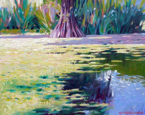 Water Art Print featuring the painting Algae by Kevin Lawrence Leveque