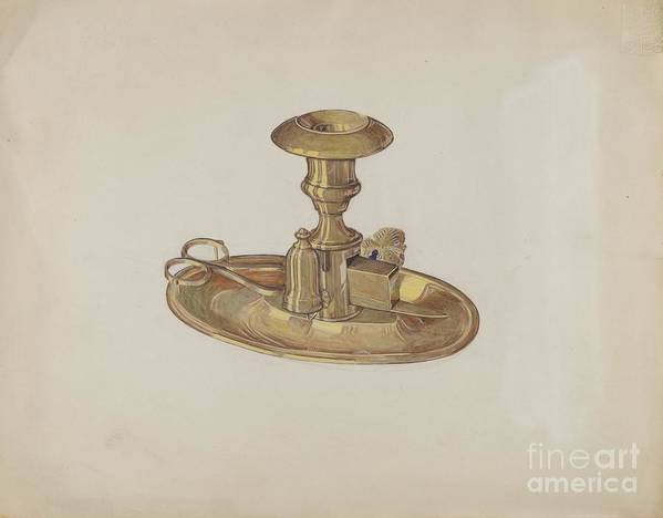 Art Print featuring the drawing Candlestick by Dorothy Posten