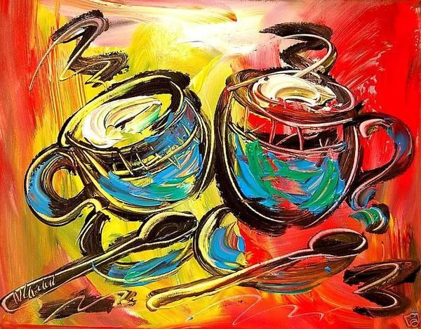 New York Art Print featuring the painting Coffee by Mark Kazav