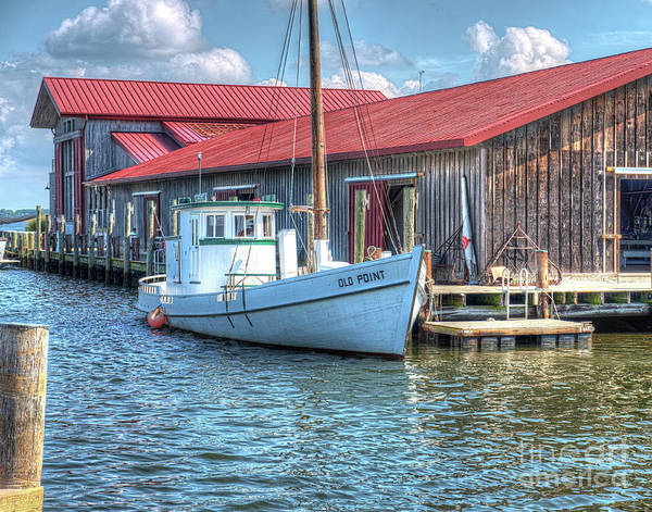 Eastern Bay Art Print featuring the photograph Old Point Crabbing Boat by Greg Hager