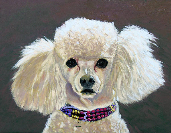 Dog Portrait Art Print featuring the painting Pebbles by Stan Hamilton