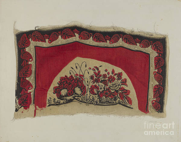 Art Print featuring the drawing Printed Textiles by Ernest Capaldo