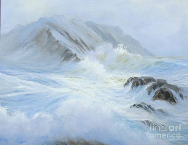 Seascape Art Print featuring the painting Quiet Moment II by Glenn Secrest