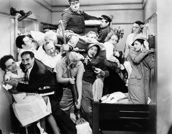 1935 Print featuring the photograph The Marx Brothers, 1935 by Granger