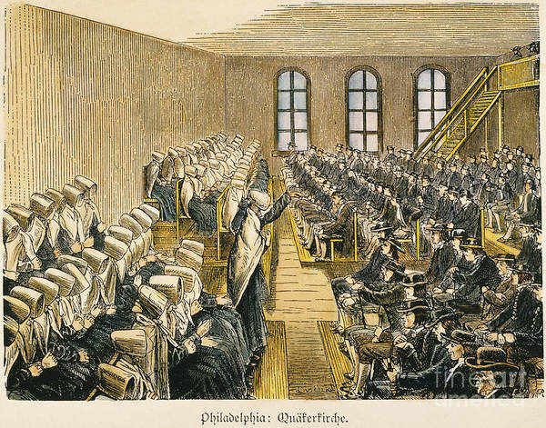 19th Century Art Print featuring the photograph Quaker Meeting by Granger