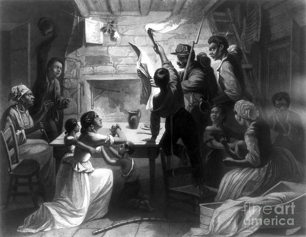 1863 Art Print featuring the photograph Emancipation Proclamation by Granger