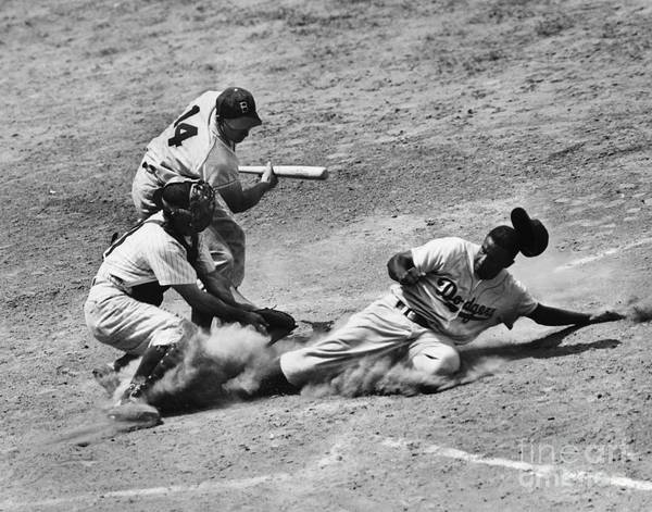 1950 Art Print featuring the photograph Jackie Robinson (1919-1972) by Granger