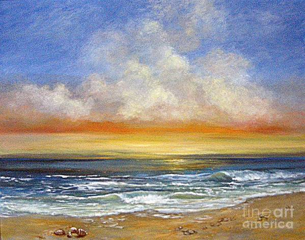 Seascape Art Print featuring the painting A Day To Remember Sold by Jeannette Ulrich