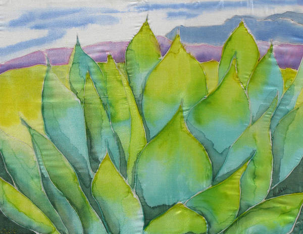 Landscape Art Print featuring the painting Agave by Kathy Mitchell