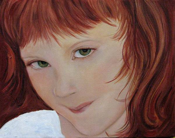 Portrait Art Print featuring the painting Andee by Aimee Vance