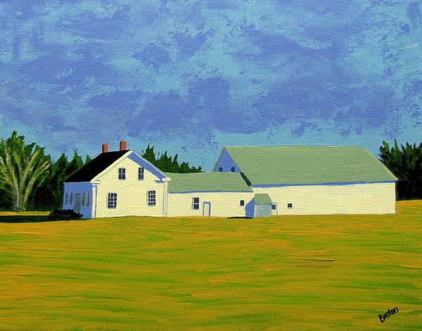 Maine Art Print featuring the painting April Afternoon Route 17 by Laurie Breton