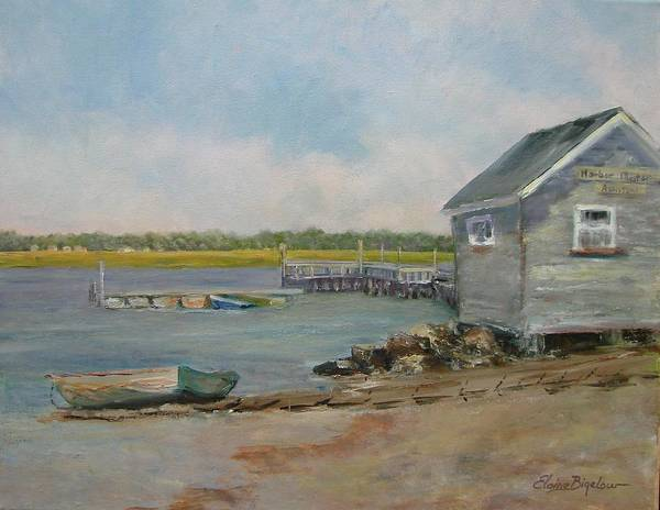 Art Print featuring the painting Assistant Harbor Master by Elaine Bigelow
