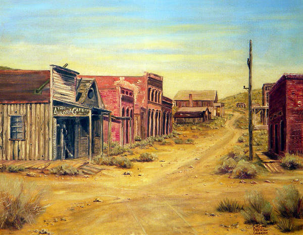 West Art Print featuring the painting Aurora Nevada by Evelyne Boynton Grierson