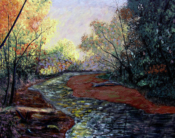 Fall Art Print featuring the painting Autumn Road by Stan Hamilton