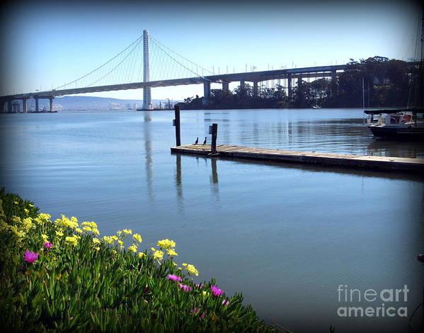 California Art Print featuring the photograph Bay Bridge by Joy Patzner