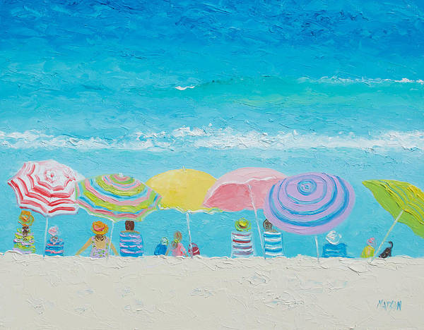 Beach Art Print featuring the painting Beach Painting - Color Of Summer by Jan Matson