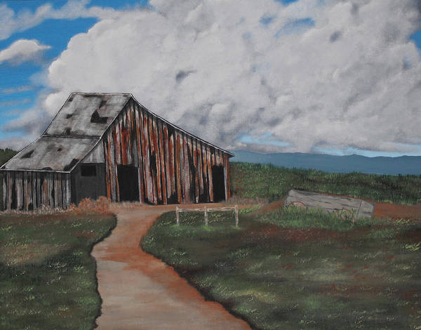 Landscape Art Print featuring the painting Better Days by Candace Shockley