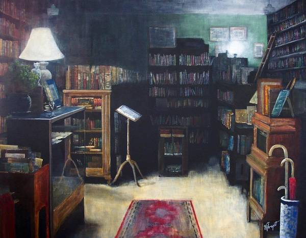 Library Art Print featuring the painting Bibliopoly by Victoria Heryet
