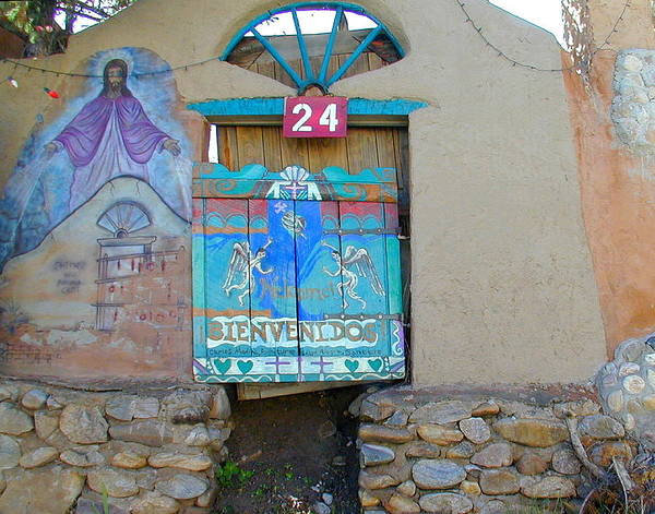 Door Art Print featuring the photograph Bienvenidos 24 by Joseph R Luciano