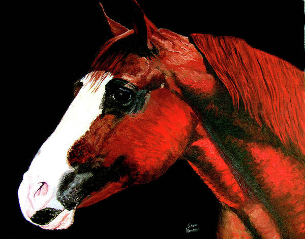 Original Oil On Canvas Art Print featuring the painting Big Red by Stan Hamilton