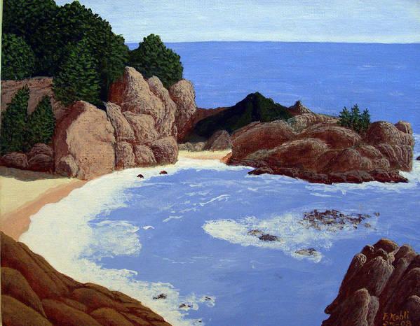 Landscape Art Art Print featuring the painting Big Sur by Frederic Kohli