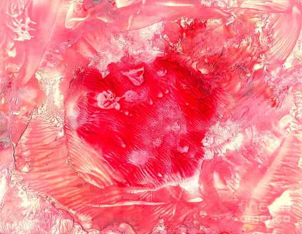 Red Art Print featuring the painting Bk Healing by Heather Hennick