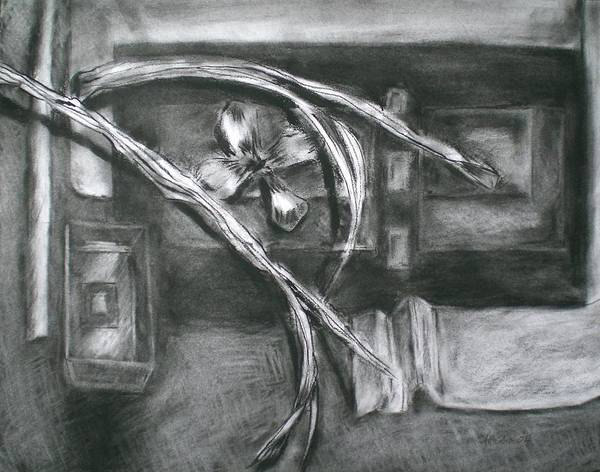 Still Life Art Print featuring the drawing Black And White Composition II by Aleksandra Buha