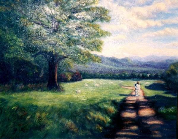 Christian Art Print featuring the painting Black Sheep by Gail Kirtz
