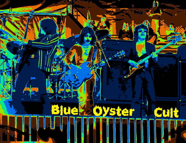 Blue Oyster Cult Art Print featuring the photograph Blue Oyster Cult Jamming In Oakland 1976 by Ben Upham
