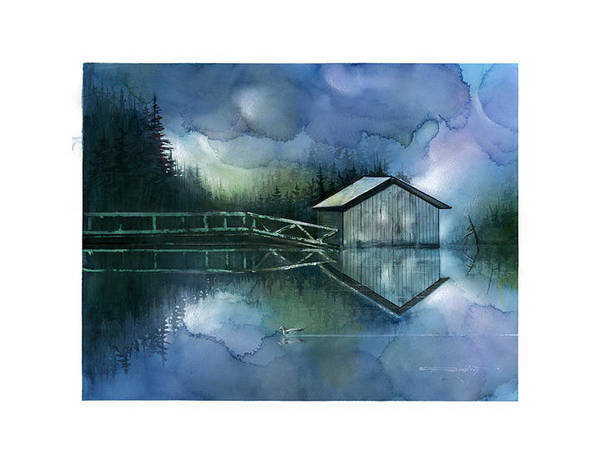 Seescape Art Print featuring the painting Blue Rapsody by Dumitru Barliga