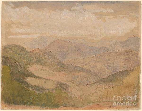 Art Print featuring the drawing Blue Ridge Mountains by Stanford White